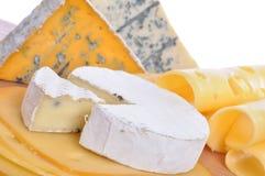 Divers types de composition de fromage d'isolement Image stock