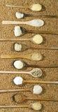Divers types de farine Images stock