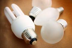 Divers types de fond d'ampoule Photo stock