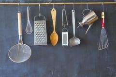 Divers uitstekend keukengerei Stock Afbeelding