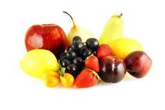 Divers van verse rijpe vruchten stock afbeeldingen