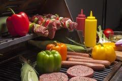 Divers Vlees klaar voor grill-2 Royalty-vrije Stock Fotografie