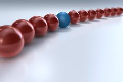Diversa bola roja stock de ilustración
