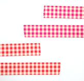 Diversa cinta coloreada de las etiquetas engomadas en blanco Fotos de archivo