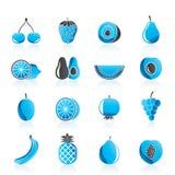 Diversa clase de fruta y de iconos Foto de archivo libre de regalías
