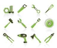 Diversa clase de iconos de las herramientas Imagen de archivo