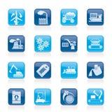 Diversa clase de iconos del asunto y de la industria Imagen de archivo libre de regalías
