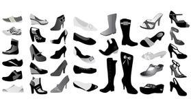 Diversa clase de zapatos de la mujer Foto de archivo