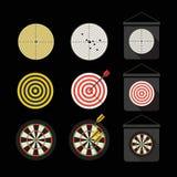 Diversa colección de los dardos ilustración del vector