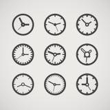 Diversa colección de los relojes Fotos de archivo