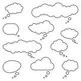 diversa colección pensada de las burbujas stock de ilustración