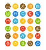 Diversa colección simple de los pictogramas de la navegación del web Fotografía de archivo