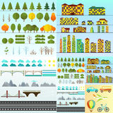Diversa colección urbana de los objetos aislada stock de ilustración