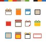 Diversa colección de los iconos del web del calendario Fotografía de archivo libre de regalías