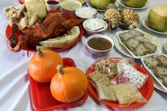 Diversa comida para la cultura china del Año Nuevo Fotos de archivo libres de regalías