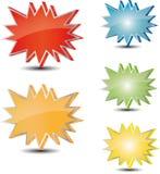 Diversa etiqueta de la estrella del color Fotografía de archivo libre de regalías