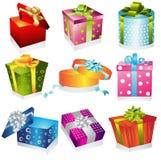 Diversa ilustración de los regalos stock de ilustración