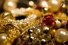 Diversa joyería Fotografía de archivo libre de regalías