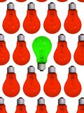 diversa lámpara verde Fotos de archivo