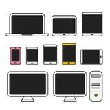 Diversa medios colección de los dispositivos Imágenes de archivo libres de regalías