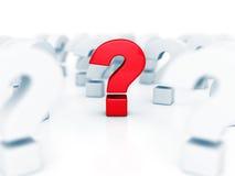 Diversa pregunta roja Mark In Other Problem Symbols Imagenes de archivo
