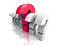 Diversa pregunta roja Mark In Other Problem Symbols Imagen de archivo libre de regalías