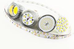 Diversamente chip di SMD LED sulla lampadina Immagine Stock