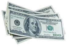 Diversas 100 contas de dólar Fotografia de Stock Royalty Free