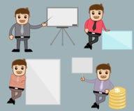 Diversas actitudes - oficina y hombres de negocios del personaje de dibujos animados del vector del concepto del ejemplo Imagen de archivo libre de regalías
