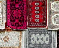 Diversas alfombras persas Imagen de archivo libre de regalías