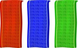 Diversas banderas coloreadas aisladas con el modelo libre illustration