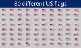 80 diversas banderas de los E.E.U.U. libre illustration