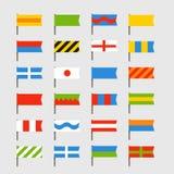 Diversas banderas del color fijadas Fotos de archivo libres de regalías