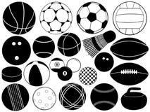 Diversas bolas de juego Fotos de archivo