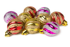 Diversas bolas do Natal Foto de Stock Royalty Free