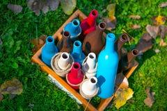 Diversas botellas Fotos de archivo libres de regalías