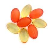 Diversas cápsulas de la vitamina Imagenes de archivo