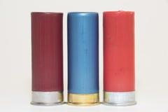 3 diversas cáscaras de escopeta Imágenes de archivo libres de regalías