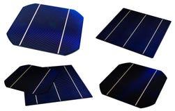 Diversas células solares Imágenes de archivo libres de regalías