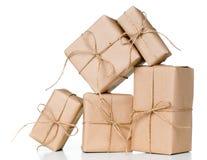 Diversas caixas de presente, pacotes postais Imagem de Stock Royalty Free
