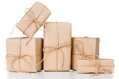 Diversas caixas de presente, pacotes postais Imagens de Stock Royalty Free