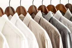 Diversas camisas em um gancho Fotos de Stock Royalty Free