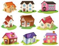 Diversas casas stock de ilustración