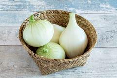 Diversas cebolas frescas Imagem de Stock