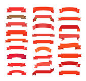 Diversas cintas retras del rojo del estilo Fotografía de archivo