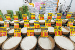 Diversas clases de arroz en Vietnam Foto de archivo