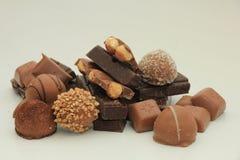 Diversas clases de chocolates Imagenes de archivo