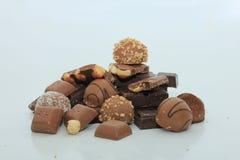 Diversas clases de chocolates Foto de archivo libre de regalías