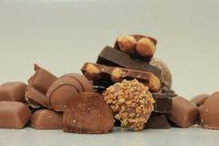 Diversas clases de chocolates Fotografía de archivo libre de regalías