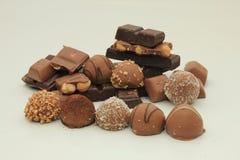 Diversas clases de chocolates Imagen de archivo